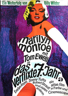 1955 Movies Digital Art - The Seven Year Itch German by Georgia Fowler