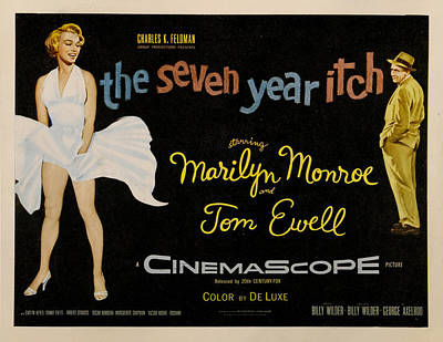 1950s Movies Digital Art - The Seven Year Itch by Georgia Fowler