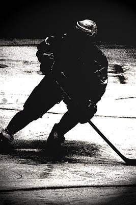 The Shadows Of Hockey Print by Karol Livote