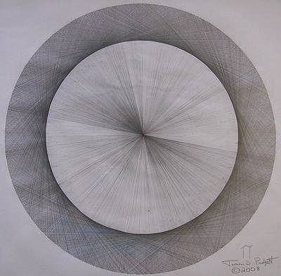 Energy Drawing - The Shape Of Pi by Jason Padgett