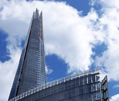 Architecture Photograph - The Shard And The Place - London by Rona Black