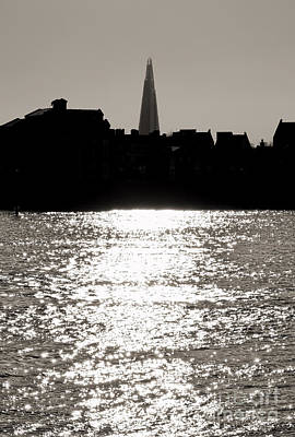 Canary Photograph - The Shard From Canary Wharf by Jasna Buncic