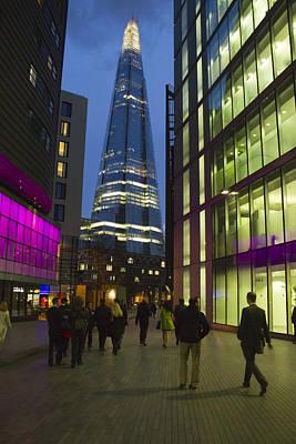 The Shard London Skyline Night Print by David French