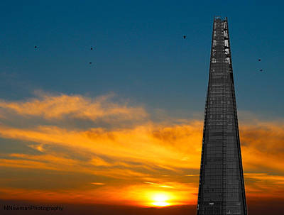 Citylife Photograph - The Shard by Martin Newman