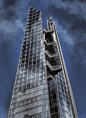 London Skyline Photograph - The Shards Of The Shard by Rona Black