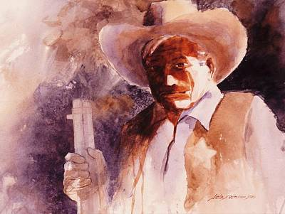 Cowboy Painting - The Sheriff  by John  Svenson