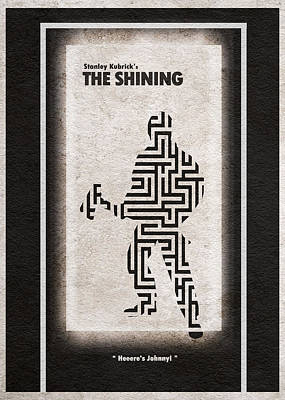 Labyrinth Digital Art - The Shining by Ayse Deniz