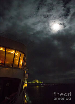 The Ship The Bridge And The Moon Original by Rene Triay Photography