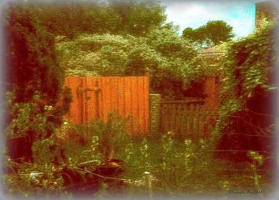 Homescape Mixed Media - The Side Yard by YoMamaBird Rhonda
