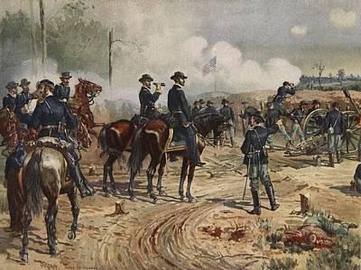 The Siege Of Atlanta, July Print by Henry Alexander Ogden