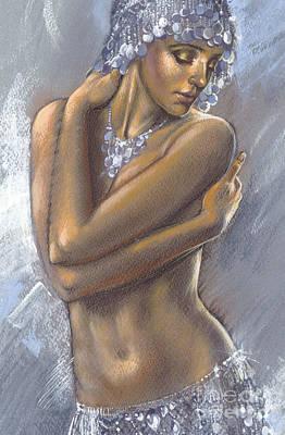 The Silver Dancer Crop Print by Zorina Baldescu