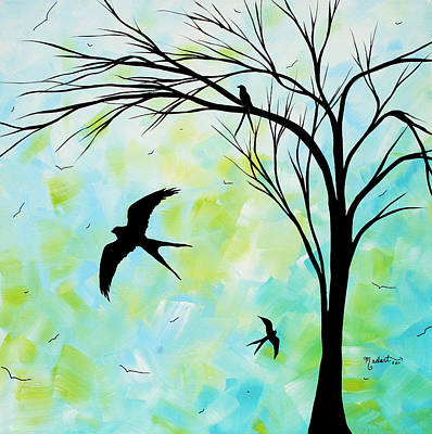 Swallow Tail Painting - The Simple Life By Madart by Megan Duncanson