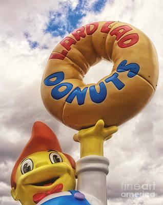 The Simpsons Lard Lad Donuts Boy Print by Edward Fielding