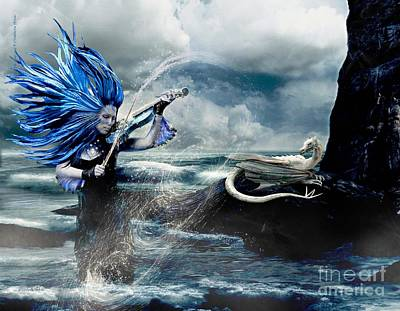 Elisabetta Artusi Digital Art - The Siren's Song by Betta Artusi