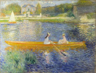 Pierre-auguste Renoir Painting - The Skiff. La Yole by Pierre-Auguste Renoir