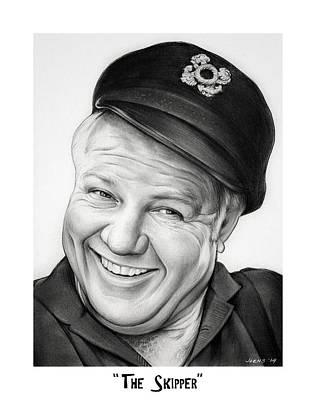 Jr Drawing - The Skipper by Greg Joens