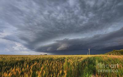 Alberta Prairie Landscape Photograph - The Sky's The Limit by Dan Jurak