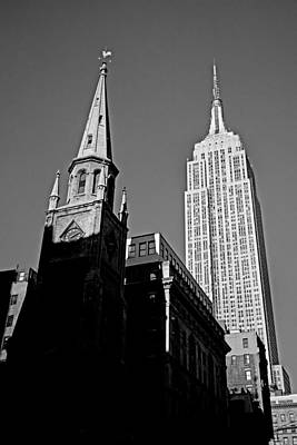 Manhattan Photograph - The Skyscraper And The Steeple by Joann Vitali