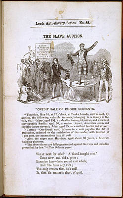 The Slave Auction Print by British Library