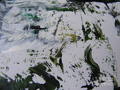 Snowscape Painting - The Slope by Nancy Kane Chapman