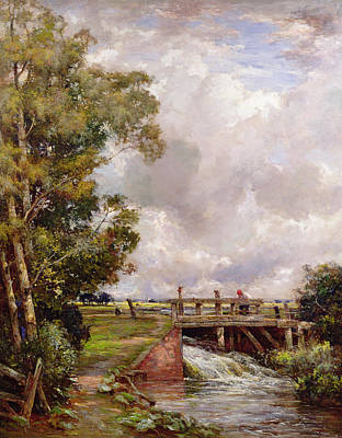 The Sluice Print by Claude Hayes