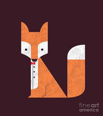 Geometric Fox Print by Nava Seas
