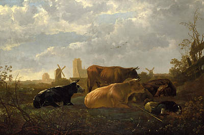 Aelbert Cuyp Painting - The Small Dort by Aelbert Cuyp