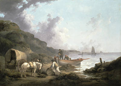Horse And Cart Painting - The Smugglers, 1792 by George Morland
