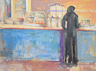 Snack Bar Painting - The Snack Bar by Leola Anderson
