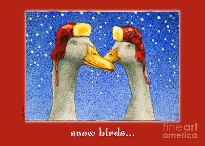 Ducks Painting - The Snow Birds... by Will Bullas