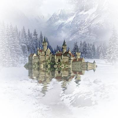 Castle Mixed Media - The Snow Palace by Sharon Lisa Clarke