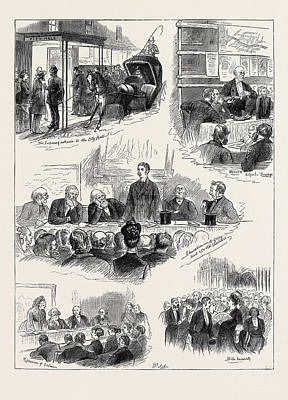 1874 Drawing - The Social Science Congress At Glasgow, October 10 by English School
