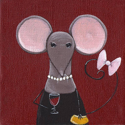 Mice Painting - The Socialite  by Christy Beckwith