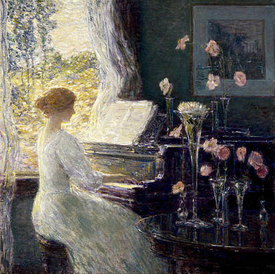 Childe Hassam Painting - The Sonata by Childe Hassam