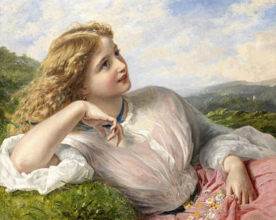 Lark Painting - The Song Of The Lark by Sophie Gengembre Anderson