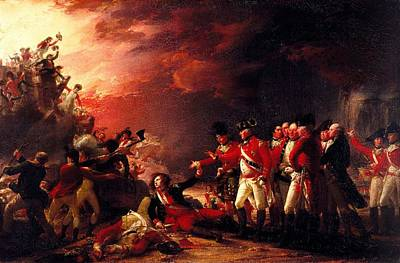 The Sortie From Gibraltar, 1788 Oil On Canvas Print by John Trumbull