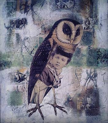 Mixed Media - The Soul Of An Owl  by Susan McCarrell
