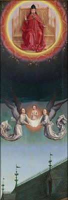 Simon Marmion Painting - The Soul Of Saint Bertin Carried Up To God by Simon Marmion