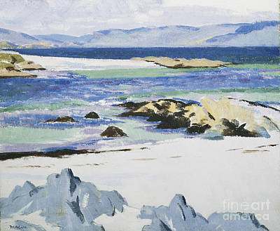 Scottish Colourist Painting - The Sound Of Mull From Iona by Francis Campbell Boileau Cadell