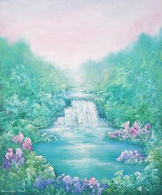 Garden Of Eden Painting - The Sound Of Water by Hannibal Mane
