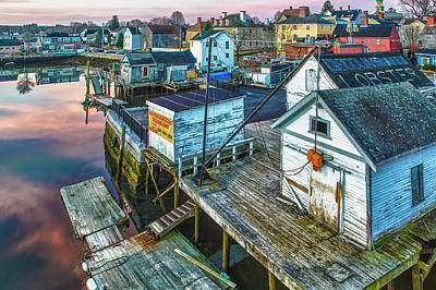 Portsmouth Photograph - The South End At Dawn, Portsmouth, New by Jerry and Marcy Monkman