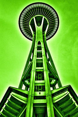 Seattle Photograph - The Space Needle In The Emerald City by David Patterson