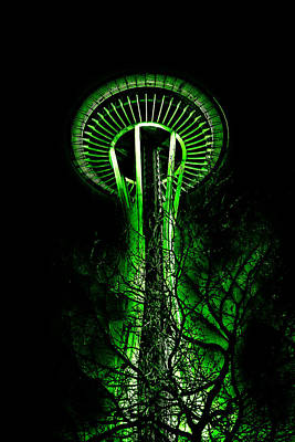 The Space Needle In The Emerald City II Print by David Patterson