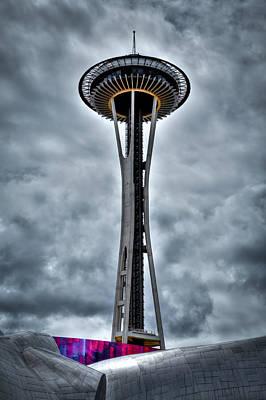 The Space Needle - Seattle Washington Print by David Patterson
