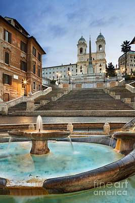Italia Photograph - The Spanish Steps by Rod McLean