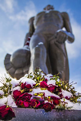Michigan State Photograph - The Spartan With Roses 2 by John McGraw