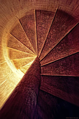 The Spiral Staircase Print by Mary Machare