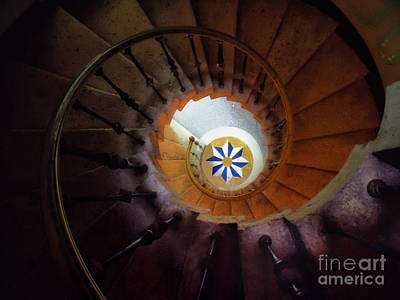 The Spiral Staircase Of Villa Vizcaya Print by Mike Nellums