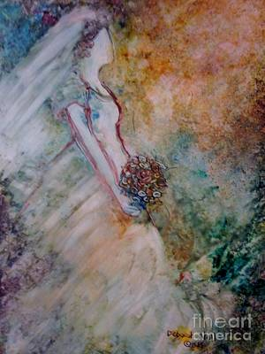 Wedding Bouquet Painting - The Spirit And The Bride by Deborah Nell