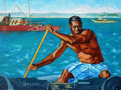 Portrait Painting - The Spirit Of The Sea - Pacific Voyagers I by Xueling Zou